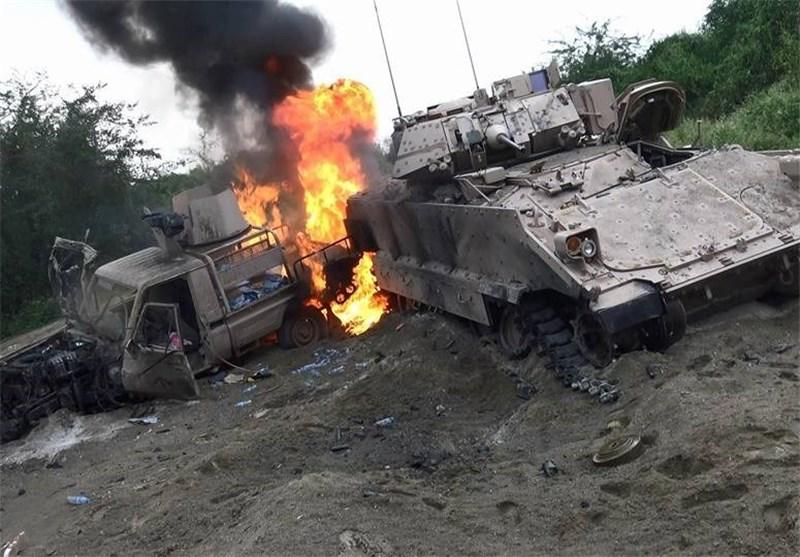 انفجار ضخم فی قاعدة سعودیة بعد استهدافها من قبل الجیش الیمنی واللجان الشعبیة