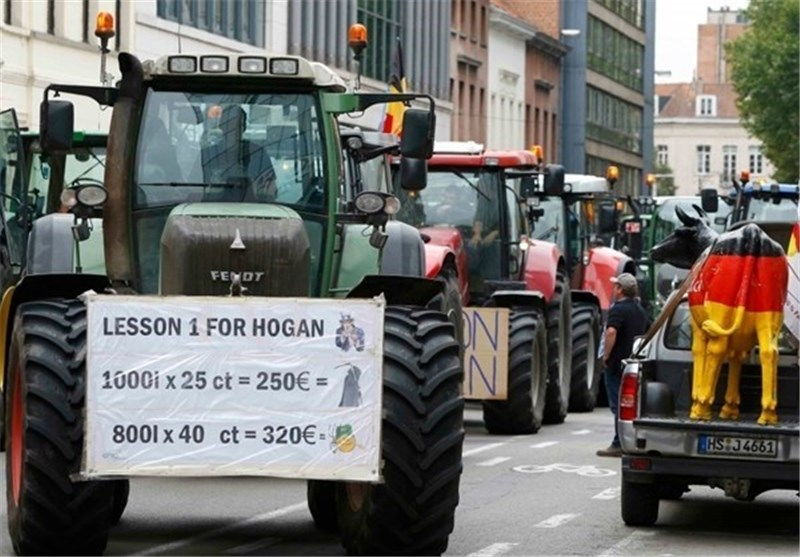 1000s of Farmers Protest at EU HQ to Protest Slumping Prices