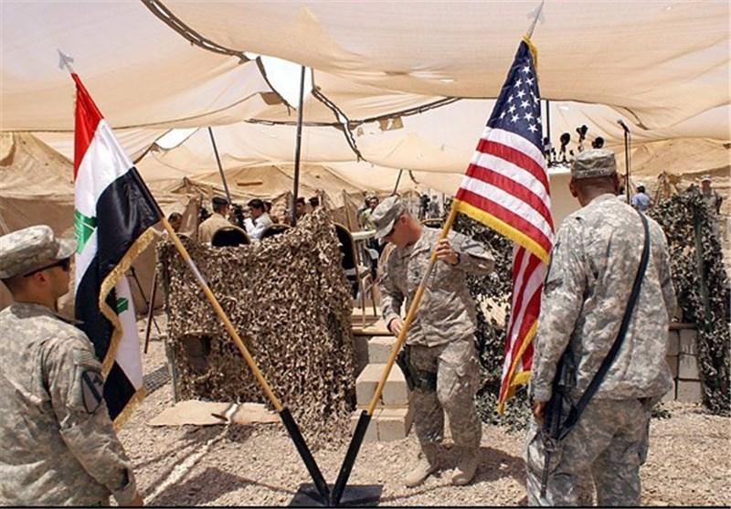 پرچم آمریکا و عراق