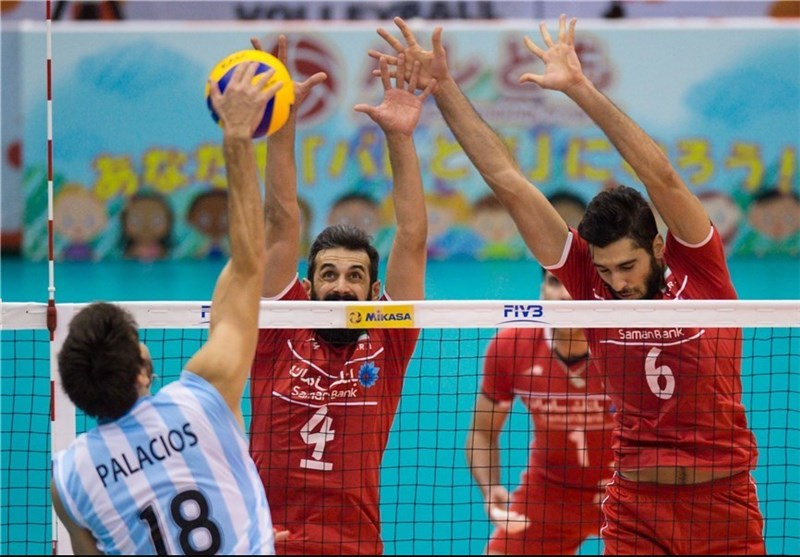 Argentina Overpowers Iran at FIVB Volleyball Men's World Cup
