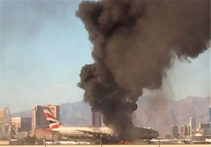 British Airways Plane Catches Fire at Las Vegas Airport; 14 Injured