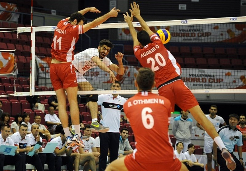 Iran Outlasts Tunisia at FIVB Volleyball Men's World Cup