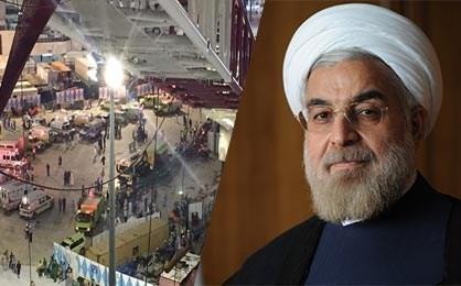 الرئیس روحانی یعزی الامة بسبب حادث مکة ویعلن استعداد ایران لتقدیم أی دعم علاجی لجرحاه