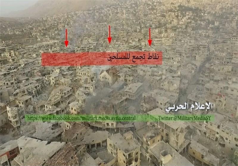 نقاط جدیدة فی الزبدانی تحت سیطرة الجیش السوری والمقاومة الإسلامیة