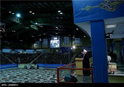 بیست و یکمین مجمع سراسری فرمانده سپاه پاسداران با حضور رئیس جمهور