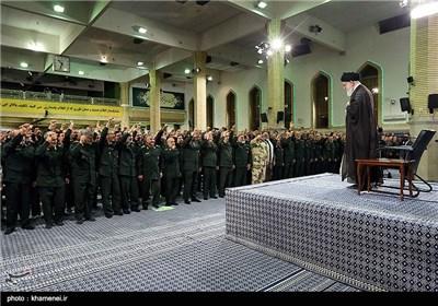 الإمام الخامنئی یستقبل کبار قادة قوات حرس الثورة الاسلامیة