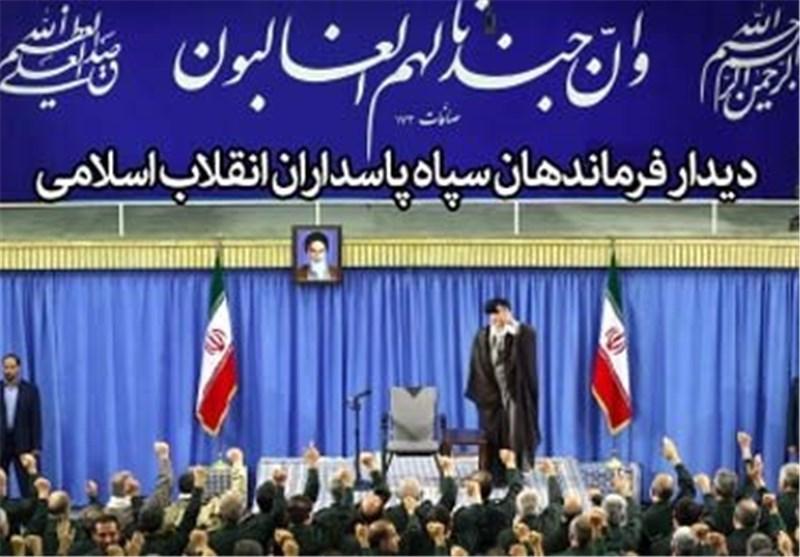 الامام الخامنئی یستقبل قادة قوات حرس الثورة الاسلامیة