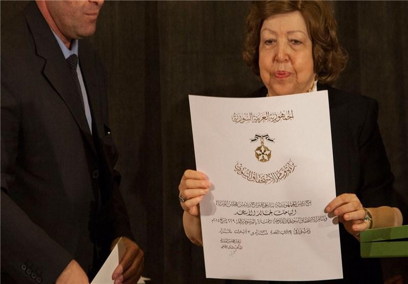 نائب الرئیس السوری تسلّم أسرة الشهید عالم الآثار خالد الأسعد وسام الاستحقاق السوری+صور