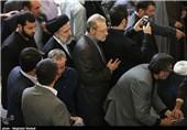 علی لاریجانی در مراسم تشییع پیکر مرحوم آیتالله خزعلی حضور یافت