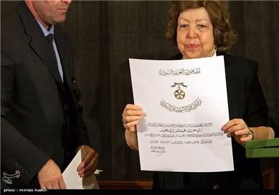 مراسم تکریم عائلة العالم خالد الأسعد بمشارکة نائب الأسد