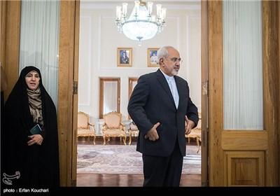 الدکتور ظریف یلتفی یوکیا أمانو فی طهران