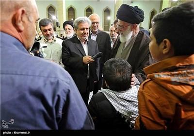دیدار جمعی از جانبازان و خانوادههای آنان با مقام معظم رهبری