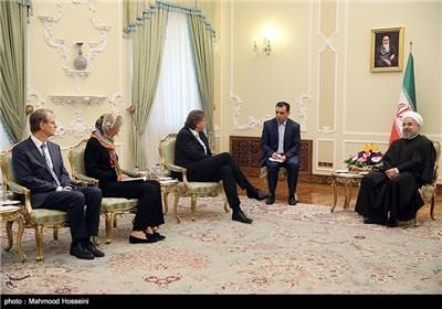 الدکتور روحانی یستقبل وزیر الخارجیة الهولندی