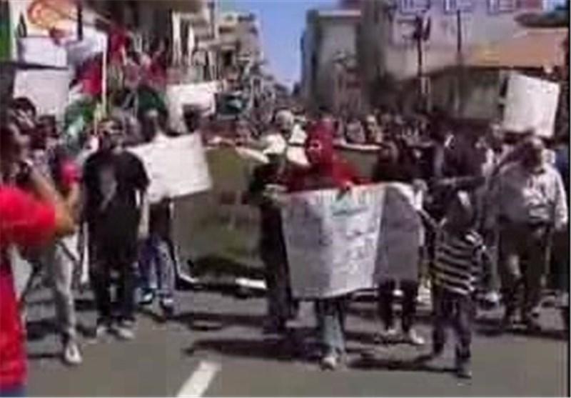 تظاهرات فی رام الله تطالب بالغاء اتفاق أوسلو + فیدیو