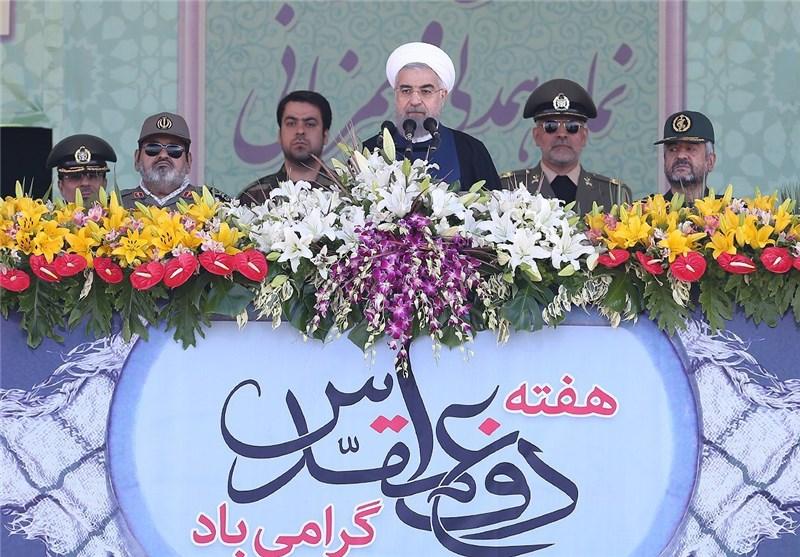 Iranian Armed Forces Region's Top Anti-Terror Power: President