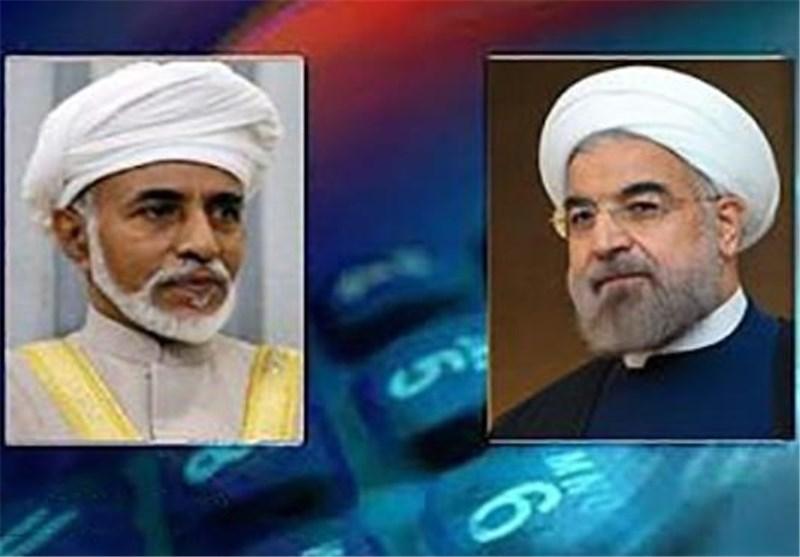 روحانی خلال اتصال هاتفی مع السلطان قابوس یشید بالمواقف الاقلیمیة لعمان خاصة تجاه الیمن