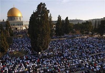 هتافات المعتکفین فی المسجد الأقصى المبارک