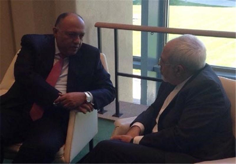 لقاء نادر یجمع ظریف مع نظیره المصری فی نیویورک