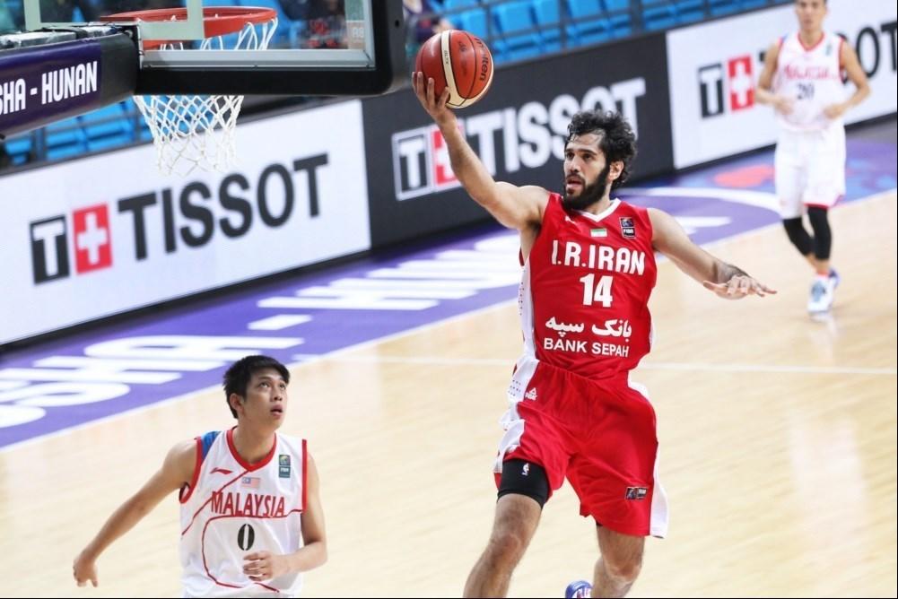 بسکتبال قهرمانی آسیا - چین :برد ایران برابر مالزی و صعود به دور بعد + عکس های بازی