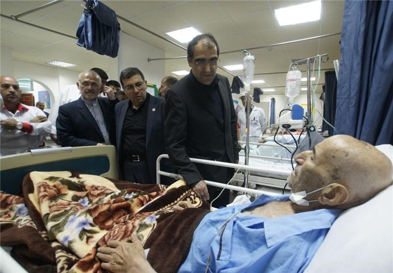 وزیر الصحة یتفقد المصدومین فی فاجعة منی فی أحد مستشفیات مکة المکرمة
