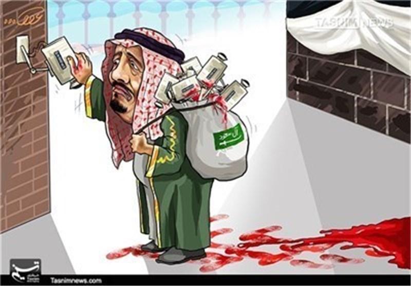 کاریکاتیر.. سلمان یصدر أوامر بتجمیع أفلام کامیرات المراقبة فی منى