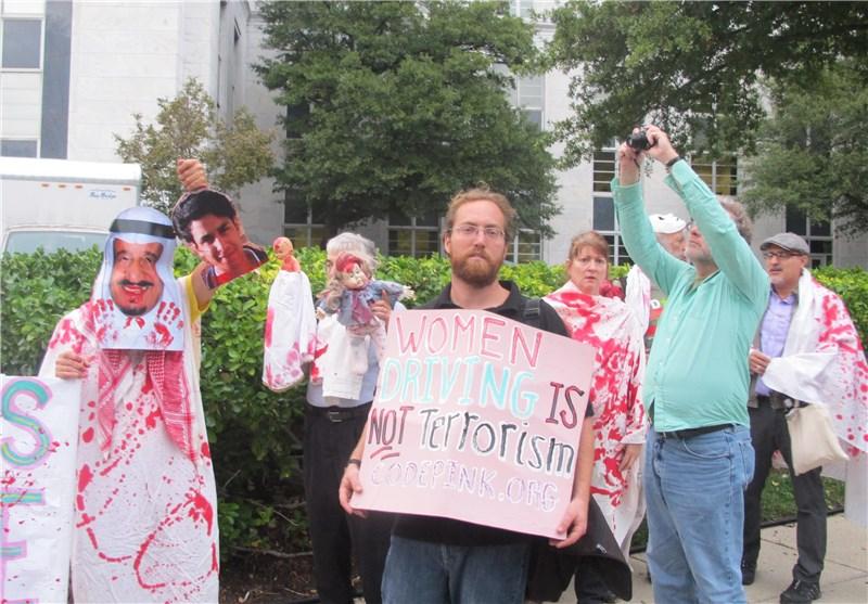 تجمع فعالان حقوق بشر مقابل سفارت عربستان در واشنگتن در اعتراض به جنگ یمن + تصاویر