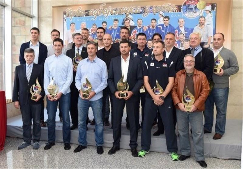کواچ و دوستانش در جشن پانزدهمین سالگرد قهرمانی یوگسلاوی در المپیک+تصویر