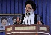 """آیتالله حسینیهمدانی: با سر دادن شعار اصلی """"مرگ بر آمریکا"""" مقابل استکبار میایستیم"""