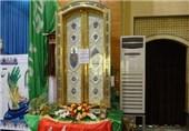 یکی از درهای حرمین عسکریین در مصلای آبادان رونمایی شد