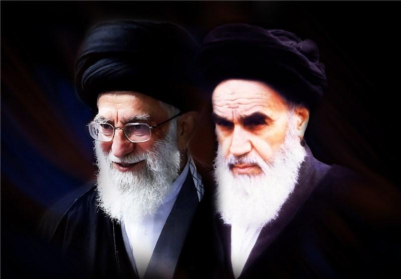 امام خمینی و رهبر انقلاب امام خمینی و امام خامنهای امام خامنهای و امام خمینی خامنه ای خمینی