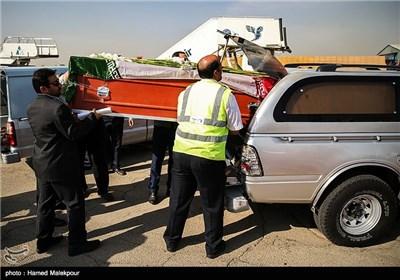 مراسم استقبال از پیکرهای جانباختگان فاجعه منا در فرودگاه مهرآباد