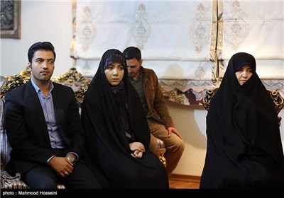 دیدار سردار نقدی با خانواده غضنفر رکن آبادی که در حادثه منا مفقود شده است