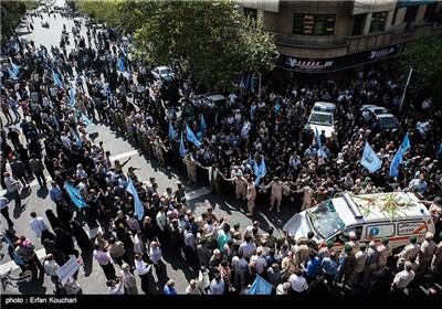 مراسم تشییع پیکر جانباختگان فاجعه منا - تهران