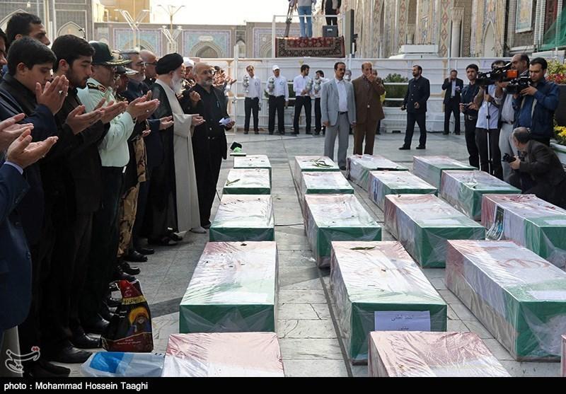 مراسم تشییع پیکر جانباختگان فاجعه منا - مشهد