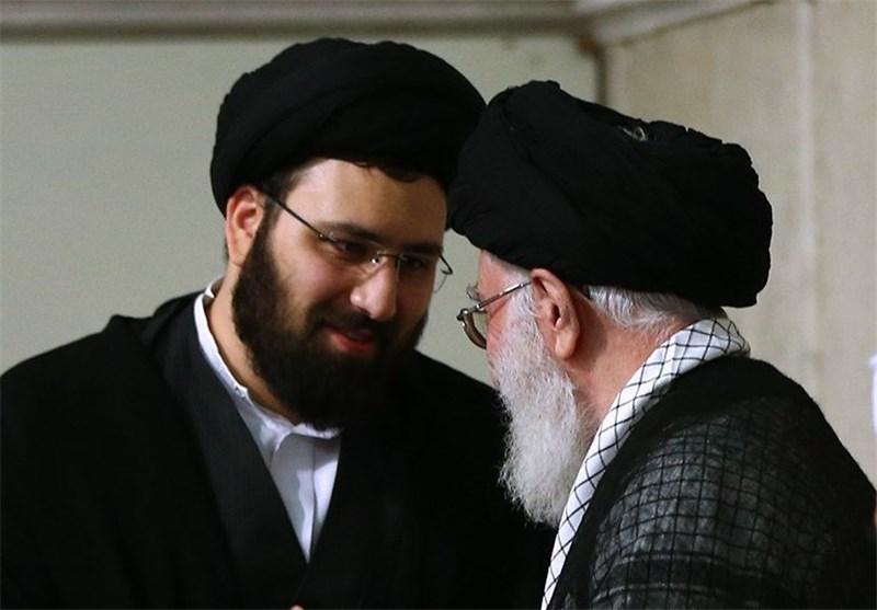 رهبر و سید علی خمینی