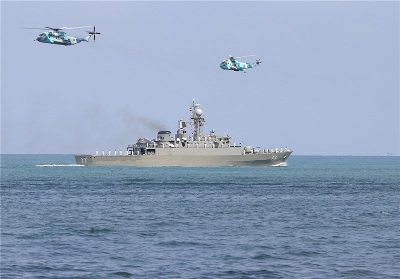Iran's 'Damavand' Destroyer Sets Sail for Caspian Mission