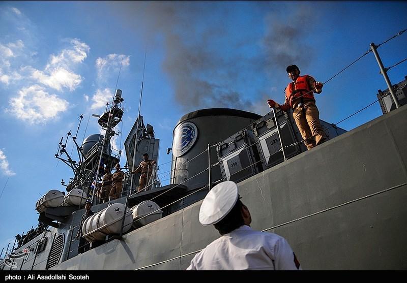 Iran's 43rd Naval Fleet Sets Sail for Open Seas