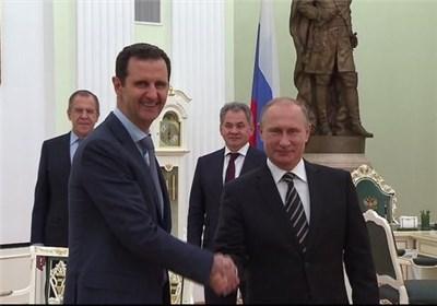 """پیام تبریک بشار اسد برای پوتین به مناسبت """"روز پیروزی"""""""