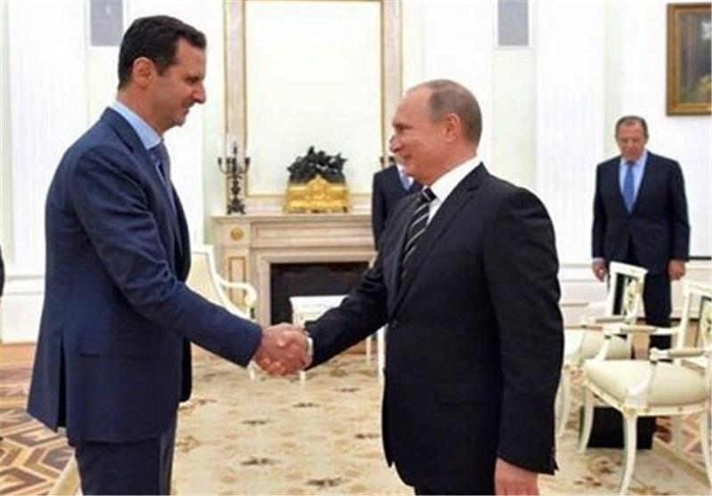 اسد در تماس تلفنی با پوتین : با هرگونه تعدی به خاک سوریه تحت هر عنوان یا بهانهای مخالفیم