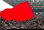 مراسم عزاداری روز عاشورا در میدان امام حسین (ع)