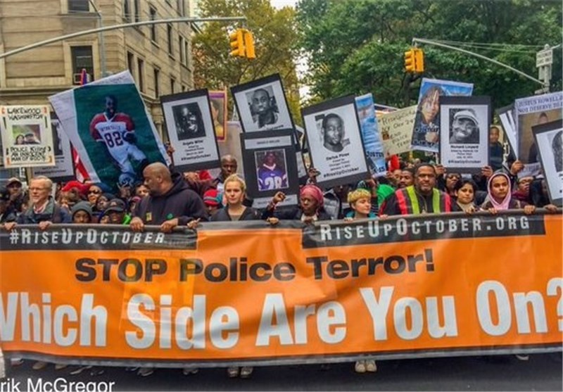 Rise Up October Wraps Up in NYC with Massive Rally against Police Brutality