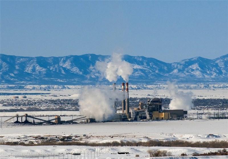 نیروگاه در زمستان