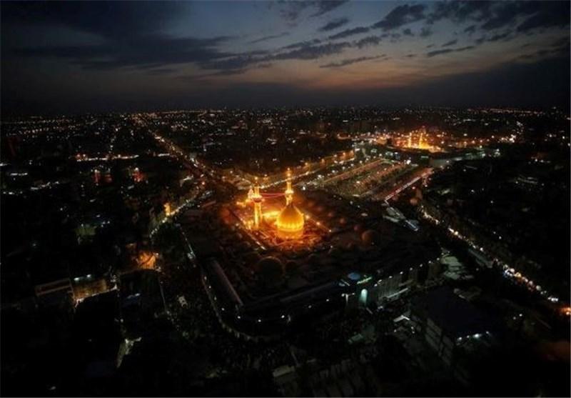 فیلم/تصاویر هوایی از حرم امام حسین(علیه السلام)