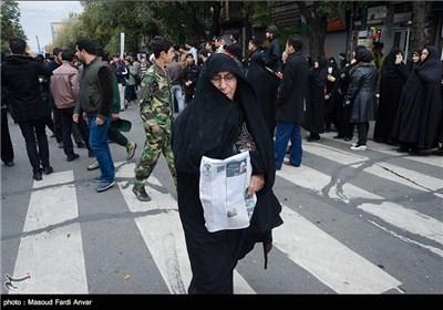 تشییع شهید مدافع حرم وحید نومی گلزار- تبریز