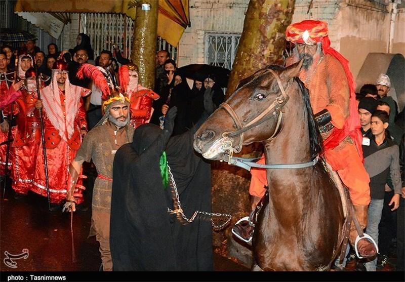 کاروان اسرای کربلا در هفتمین شب شهادت امام حسین(ع) - اراک