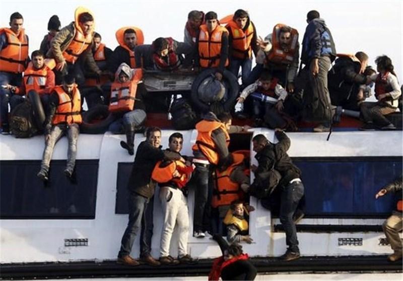عکس/غرق شدن پناهجویان در دریای اژه