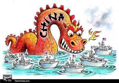 کاریکاتور/ دیدار نیروی دریایی چین و آمریکا!!!