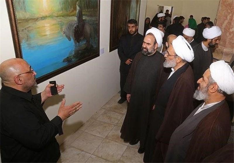 افتتاح نمایشگاه نقاشی «آسمان حسین» در مسجد مقدس جمکران