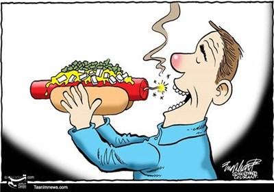 کاریکاتور/ سوسیس و هاتداگ، افزایش سرطان