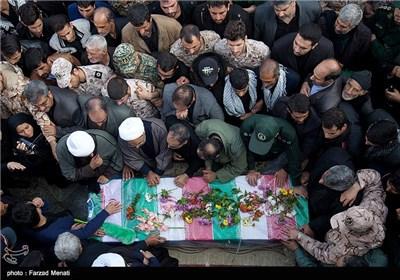 تشییع شهید ابوذر امجدیان - کرمانشاه